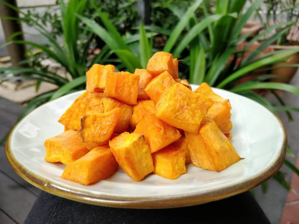 Seasoned Sweet Potato Cubes Recipe | Elika Tasker