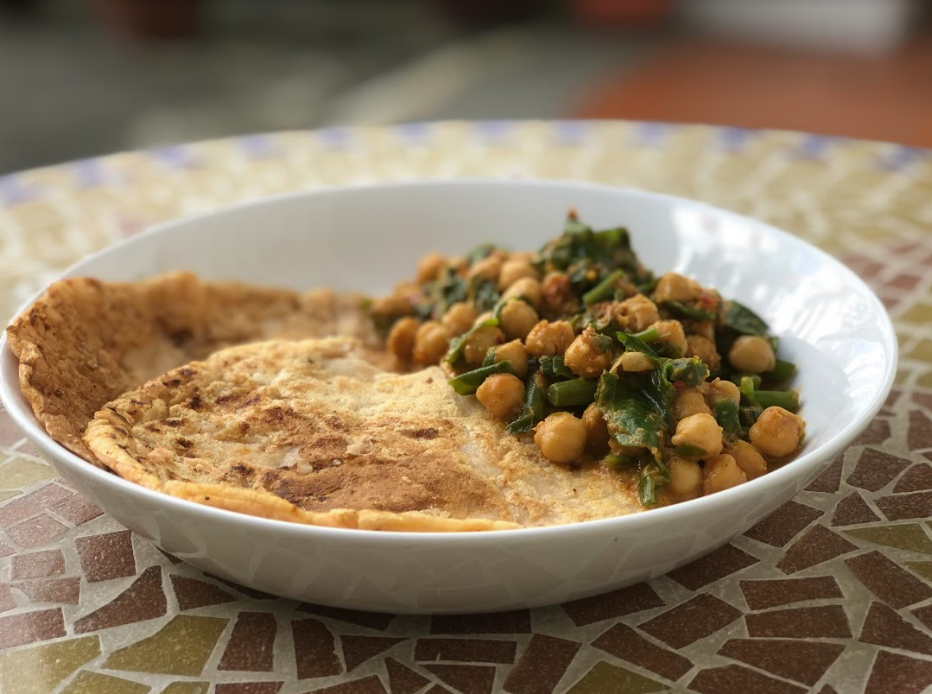 Chickpea and Spinach Curry recipe | Elika Tasker