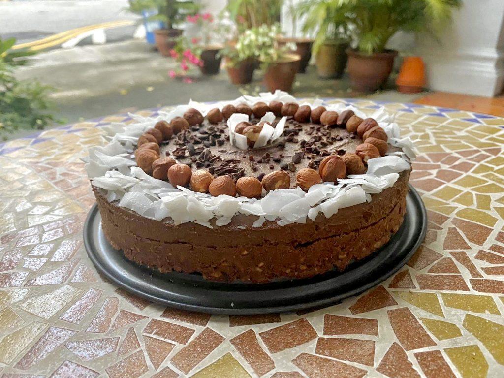 cacao & hazelnut cake recipe | Elika Tasker