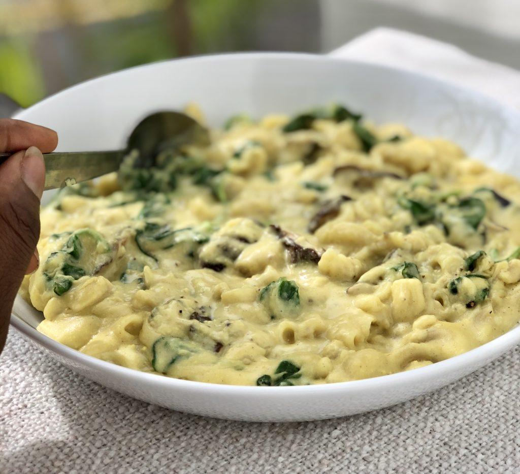 Cheesy Mushroom Pasta Elika